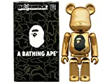 A BATHING APE エイプ BE@RBRICK 2016SS NOWHERE 23周年 ゴールド ベアブリック100% MEDICOMTOY GOLD