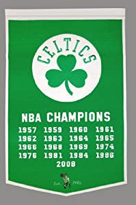 Boston Celtics Dynasty Banner by Winning Streak