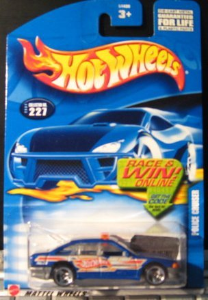 Hot Wheels 2002 Police Cruiser BLUE 227 1:64 Scale - 1