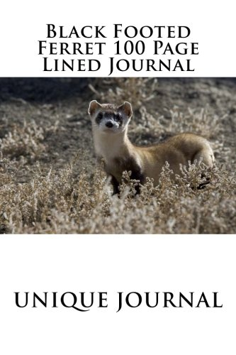 Black Footed Ferret 100 Page Lined Journal: Blank 100 page lined journal for your thoughts, ideas, and inspiration