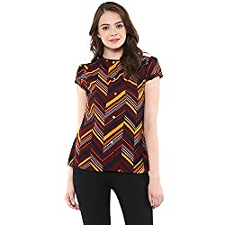 Raindrops Women's Top(1213B007D-Maroon-M)