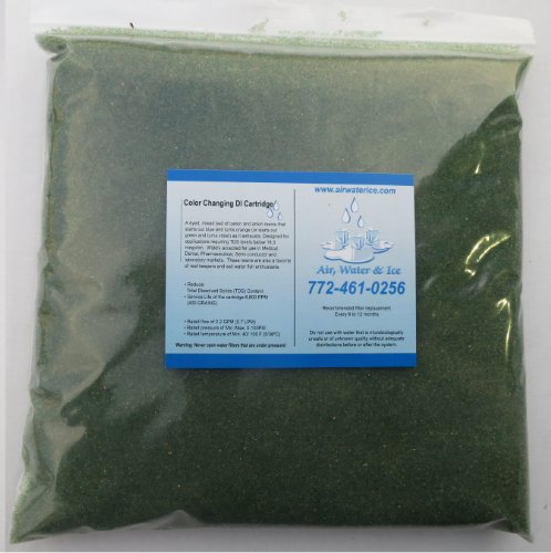 Deionization Resin Mixed Bed Color Changing 5 Lb Bag