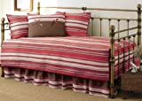 Stone Cottage Fresno 5-Piece Daybed Set, Red Stripe