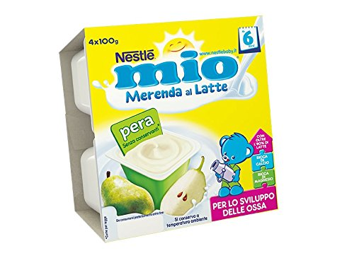 NESTLÉ MIO Merenda al Latte Pera senza glutine da 6 mesi 4 vasetti plastica da 100g