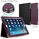 [CORNER PROTECTION] CaseCrown Bold Standby Pro Case (Purple) for iPad 4th Generation with Retina Display, iPad 3 & iPad 2 with Sleep / Wake, Hand Grip, Corner Protection, & Multi-Angle Viewing Stand