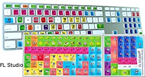 fl studio keyboard shortcut laminated sticker for any computer computers accessories. Black Bedroom Furniture Sets. Home Design Ideas
