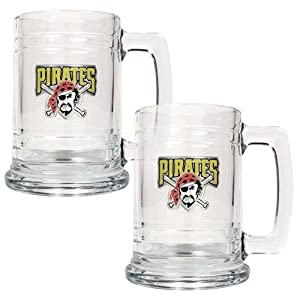 MLB Two Piece 15-Ounce Glass Tankard Set- Primary Logo by Great American Products