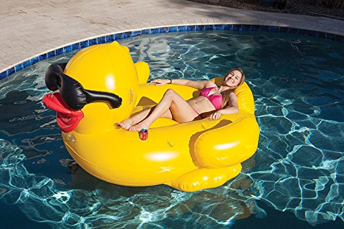 Perfect Inflatable Pool Floating Riding Derby Duck Ride On