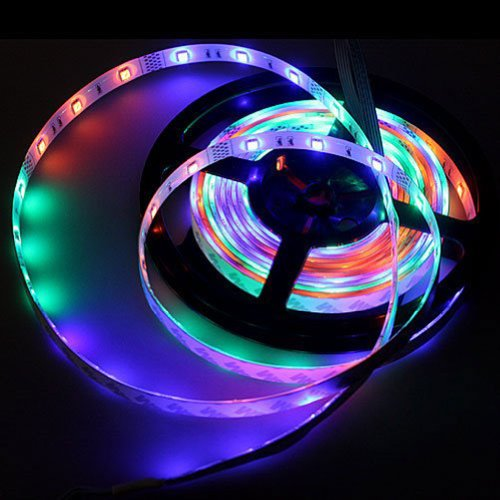 Generic 12V 49.2Ft 15M Non-Waterproof Smd5050 60Leds/M Flexible Led Light Strip High Quality Rgb