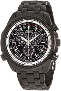 Citizen BL5405-59E Men's Eco-Drive Black IP Perpetual Calendar Chronograph Watch