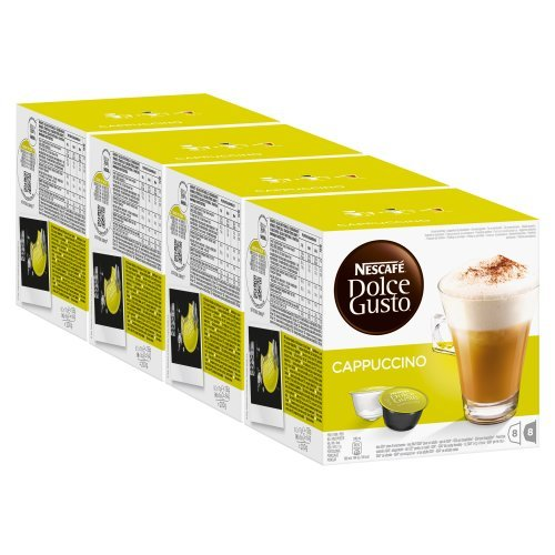 Shop for Nescafé Dolce Gusto Cappuccino, Pack of 4, 4 x 16 Capsules (32 Servings) - Nestlé