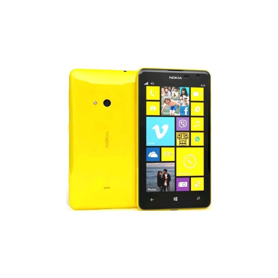 Lumia 625 Windows Phone (Unlocked, 8GB, Yellow)