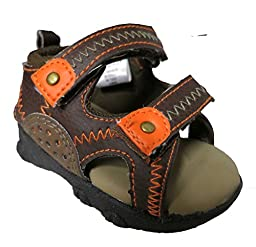 Rising Star Brown/Orange Sandals - Boys- Size 6-9 Months [3012]