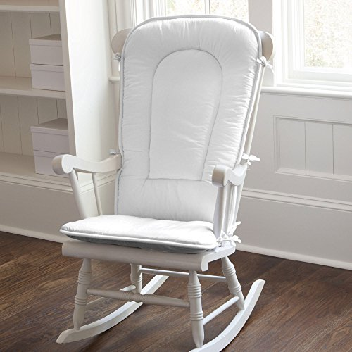 Carousel Designs Solid White Rocking Chair Pad (Rocking Chair Pad White compare prices)