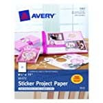 Avery Sticker Project Paper, White, 8...