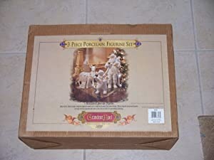 1999 Grandeur Noel collector's edition 3 piece porcelain figure set