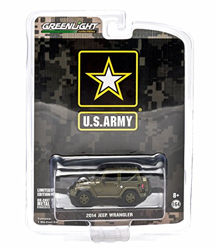 U.S ARMY 2014 JEEP WRANGLER (Dark Green) * Hobby Exclusive * 2015 Greenlight Collectibles Limited Edition 1:64 Scale Die-Cast Vehicle