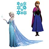 Roommates Frozen Elsa and Anna Peel And Stick Giant Wall Decals Set