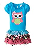 Rare Editions Girls Owl Tutu Dress (2t-6x)