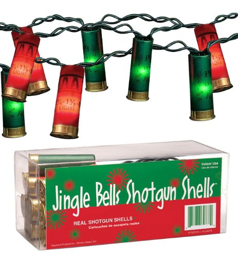 keystone products jingle bells shotgun shells christmas lights