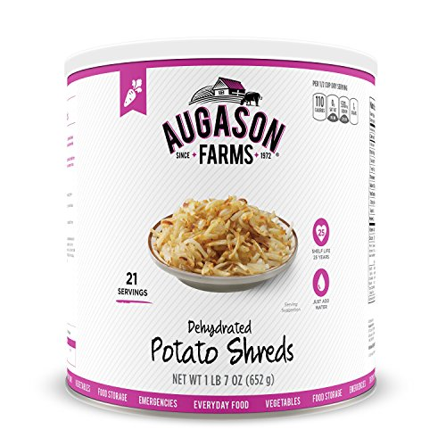 Augason Farms Dehydrated Potato Shreds, 23 oz (Freeze Dried Hash Browns compare prices)