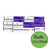 Kingfisher Toothpaste - Fennel (Fluoride Free) 12x100ml