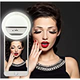 Selfie Ring Light - Fits All Phones and Sizes. Great for Applying Make Up - Small and Compact | Phone 6 plus/6s/6/5s/5/4s/4/Samsung Galaxy S6 Edge/S6/S5/S4/S3, Galaxy Note 5/4/3/2