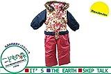 【子供服】 moujonjon (ムージョンジョン) はっ水加工花柄切替スノーコンビ 90cm~120cm M62185