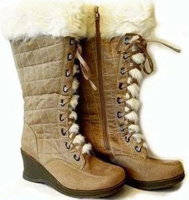 Women's Boots Canyon River Blues Faux Shearling Wedge Heel
