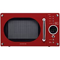 Daewoo KOR6N9RR Touch Control Solo Microwave Oven, 800 Watt, 20 Litre - Red
