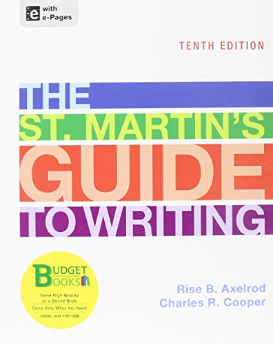 Loose-leaf Version of St. Martin's Guide 10e & Sticks and Stones 8e (Budget Books)