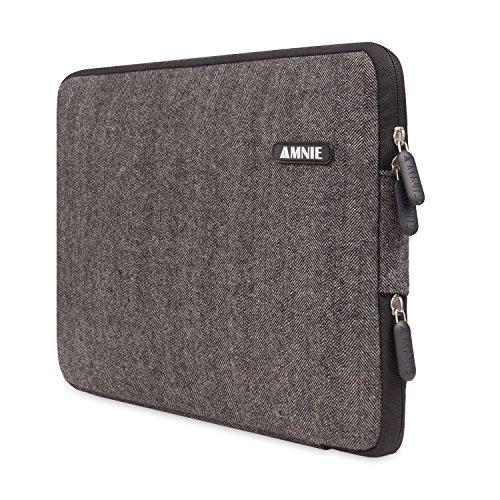 [Best Protable Laptop Sleeve Ever] Herringbone Woollen Water-resistant 15-15.6 Inch Laptop Sleeve Case Bag