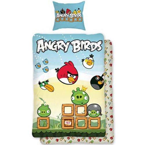 Parure de lit housse de couette réversible Angry Birds 100% coton