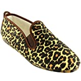 Womens Kung-Fu Flossy Ezcaray Leopard Print Slip On Espadrille Flat Shoes