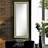 Elegant Arts & Frames Silver Wall Decorative Wooden Mirror 12 Inch X 36 Inch