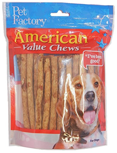PET FACTORY 28750 Chicken Dog Roll, 40-Pack (Made In America Rawhide compare prices)