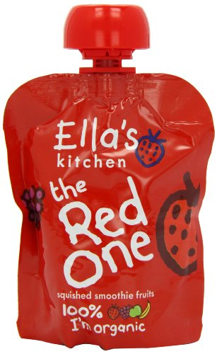 Ella's Kitchen Organic The Red One Smoothie Fruits 90 g (Pack of 12)