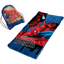 Marvel Spider Man Slumber Nap Mat With Bonus Sling Bag