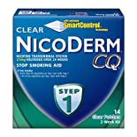 NicoDerm CQ Stop Smoking Aid, Step 1, Clear Patches, 14 ct.