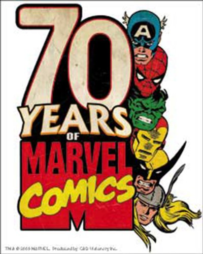 Licenses Products Marvel Comics Retro 70 Years Sticker