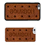 Sweets Biscuits cover case for Apple iPhone 6 & Plus - Black - T1066 - Bourbon - Black