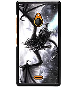 ColourCraft Fire Breathing Dragon Design Back Case Cover for NOKIA XL