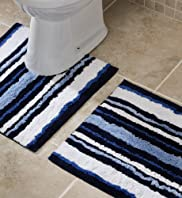 Nautical Stripe Bath & Pedestal Mats [T36-9035M-S]