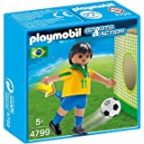 PLAYMOBIL Brazil Soccer Player Toy