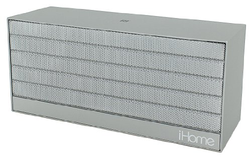 Ihome Ibn27Sx Nfc Bluetooth Rechargeable Stereo Mini Speaker In Rubberized Finish, Silver