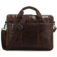 Vintage Laptop Leather Messenger Brown Chocolate - Serbags Brand
