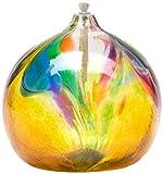 Kitras 6-Inch Oil Lamp Art Nouveau, Amber