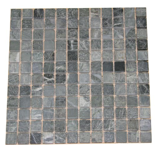 1 x 1 Green Marble TUMBLE Marble Mosaics For Kitchen Bathroom Backsplash, Shower Walls & Flooring