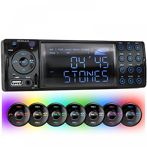 xomax-xm-rsu236bt-car-stereo-with-bluetooth-hands-free-function-7-led-colours-blue-red-yellow-purple