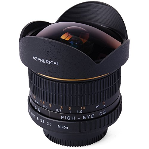 XCSOURCE 6.5mm F3.5 HD Fisheye Lens for Nikon D7100 D5300 D3200 D90 D60 D40 D5000 LF550